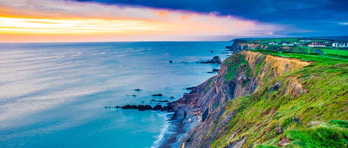 Sunset in Bude, Cornwall, United Kingdom